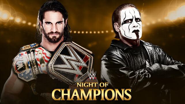 Night Of Champions Title Match: Sting VS Seth Rollins